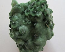 Green Quartz Crystal Cluster with Sparkly Druse from Tibet - Cactus Quartz - Raw Druzy Crystal - Large Raw Crystals and Stones