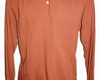 1940s Mens Shirt Sz M Vintage WWII Retro Washable Rayon