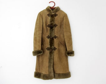 Vintage Coat // BFW Turmkleidung Suede Winter Jacket With faux Fur Lining