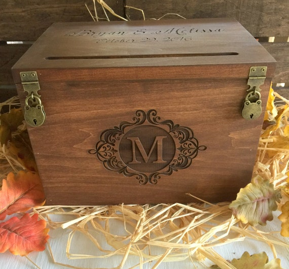 Large Wedding Gift Card Box : Card Box Large Wedding Card Box Personalized Card Box