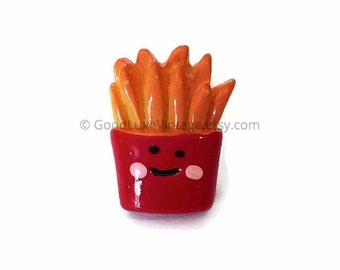 Fries Pin Earrings French Fries Button Fast Food Pin Fries Brooch Lapel Tie Pin Food Jewelry Junk Food Kawaii Fries Before Guys