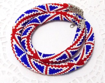 Unique gift travel gift British jewelry British flag necklace uk jewelry cute necklace british necklace union jack jewelry patriotic jewelry