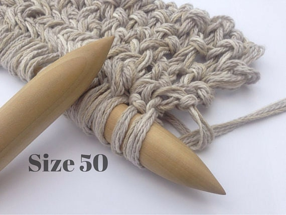 Knit Blanket Pattern Size 50 Needles : LARGE Knitting Needles Size 50 1 or 25mm CIRCULARS by ...