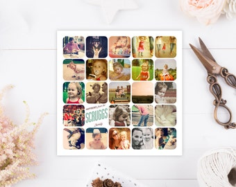 Custom Instagram Holiday Card - Personalized Photo Christmas Cards - Year in Numbers - Infographic