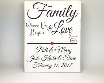 Blended Family Wedding Gift, Bridal Shower Gift, Wedding Sign, Anniversary Gift, Blended Family Wedding Sign, Blended Family Wedding Gift
