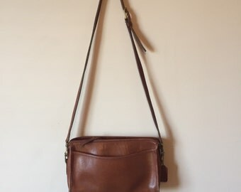 Vintage Leather Coach Crossbody Purse // Coach Handbag
