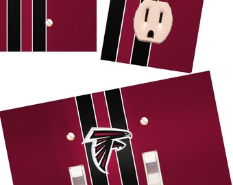 Atlanta Falcons Light switch wall plates covers NFL room decor football man cave bedroom bar decor