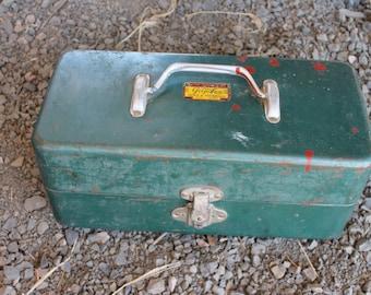 Vintage Metal Tackle Box c1950s
