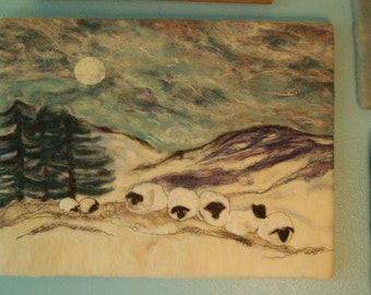 Needle Felted Wool Tapestry/Painting