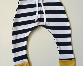 Navy Blue Striped Children's Joggers