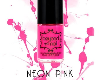 Neon Pink Nail Polish - UV Reactive