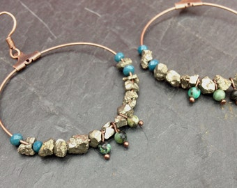 great creole pyrite and turquoise