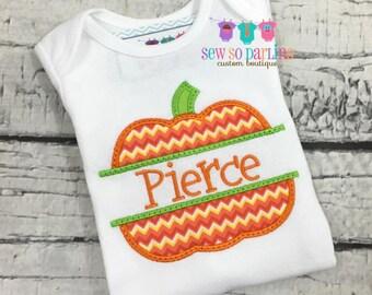 Baby Boy Halloween Outfit -Baby Boy Pumpkin Halloween Shirt -  Pumpkin shirt - Halloween clothes