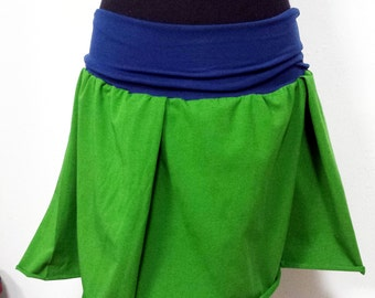 short wheel skirt in organic cotton with elastic band
