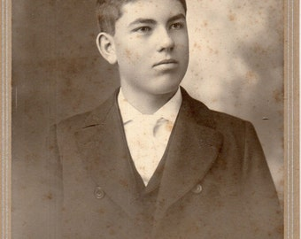Antique Photo of Serious Young Man