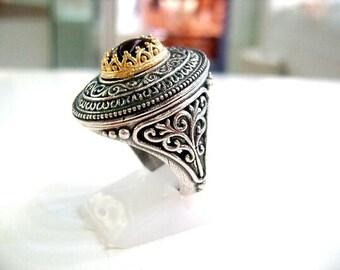Byzantine Silver ring with Garnet