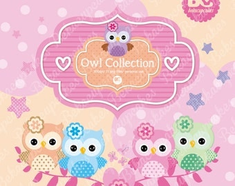 Owl clipart Collection! Clipart for Personal Use / INSTANT DOWNLOAD