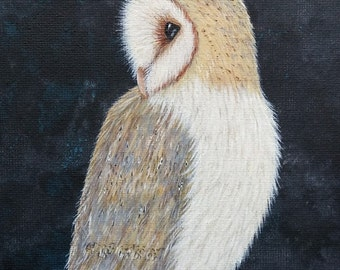 Barn Owl Art Print - The Night Watch