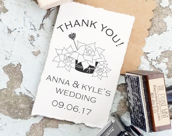 Wedding Succulent Stamp, Wedding Favors, Let Love Grow Succulents, Succulent Wedding Favors, Wedding Thank You CS-10277