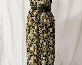 90s Vintage/Boho/ Fringe/Crochet/ Sheer/ Long/ Dress