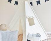 MEDIUM Natural Canvas, Teepee, Play Tent, Play House, Nursery, Teepee Tent, Kids Teepee, Wigwam, Indoor