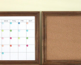 Cork board and Calendar - LARGE size!