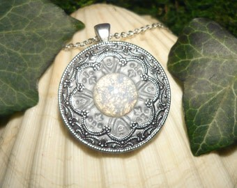 RESERVED for J.Banks - Gathering of Moon and Stars - fantastic handmade Amulet with Diamonds