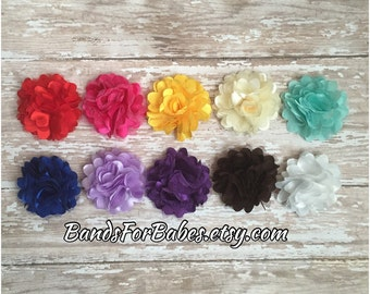 You Pick Satin & Tulle Flower Hair Clip, Satin and Mesh Flower Hair Bow, Puff Flower Alligator Clips, Toddler Hair Accessory, Girls Barrette