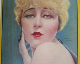 Original July 1924 Anna Q. Nilsson Photoplay Magazine Cover - Hollywood's Golden Age - Free Shipping