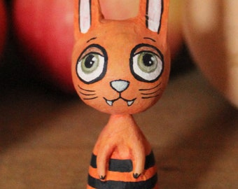 Mini orange Devil Halloween Bunny