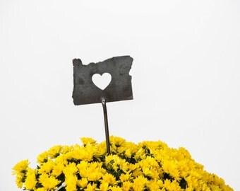 Oregon State Heart Garden Art Stake