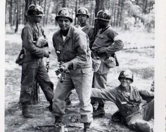 Vintage Snapshot Photo US Military ~  BAZOOKA Joe