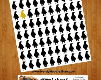 Penguin Stickers, 70, Penguin Sticker Set, Penguin Envelope Seals, Penguin Envelope Stickers, Penguin Decals, Penguin Scrapbook stickers