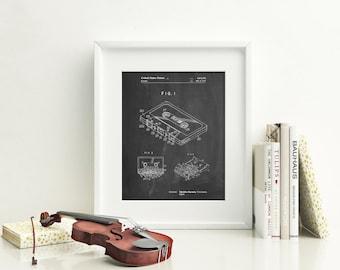 Cassette Tape Patent Poster, DJ Gifts, 80s Art, Retro Radio, Music Lover Gift, PP0319