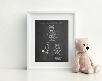 Swift Heart Rabbit Care Bear Poster, Swift Heart Rabbit Care Bear Patent, Swift Heart Rabbit Care Bear Print, PP1078