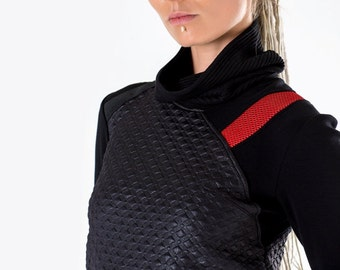 20-60% OFF Cyberpunk turtleneck sweater sci fi pullover industrial shirt cyber long sleeves thumb holes - N7 woman