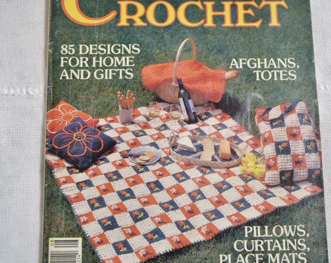 McCalls Creative Crafts Country Crochet Magazine 1983 Vintage Instructions DIY Panchosporch
