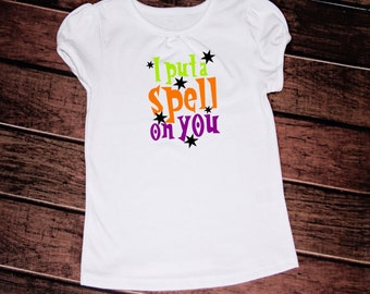 I put a spell on you t-shirt//girls//baby//toddler//htv//trendy//Fall//Happy Halloween//harvest//autumn