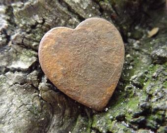 Civil War Dug Heart Pin - Recovered from VA Camp Near The Sailor's Creek Battlefield, 100% Authentic, 1800s Antebellum, Victorian Era Piece!
