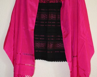 Mexican rebozo and blouse
