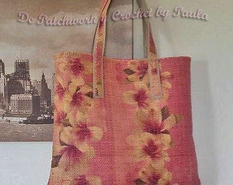 Bag Tote Raffia Flowers