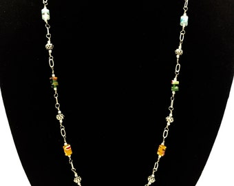 Milleflora Glass Tube Necklace
