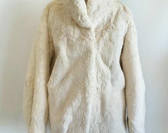 Vintage Genuine Rabbit Fur Jacket - The clothes tree wyomissing