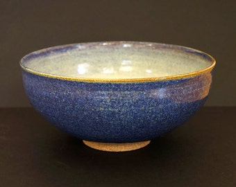 Ceramic bowl, large bowl, blue bowl, large ceramic bowl, handmade bowl, high fired