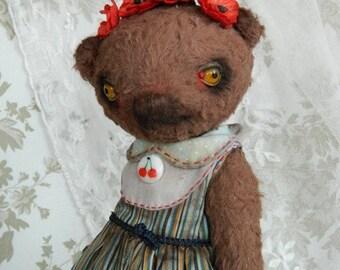 "OOAK artist teddy bear ""Frida Balu"""