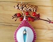 yoni fertility totem, Vaginament vagina ornament, vulva decoration, feminist housewarming, lesbian wedding, lgbt gift {Dorothy OLW}
