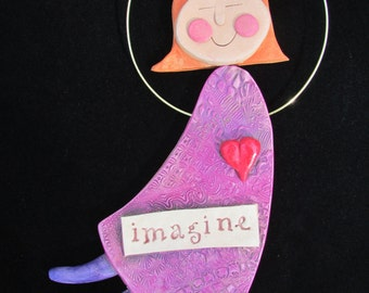 Word Dancer Imagine Wall Hanging