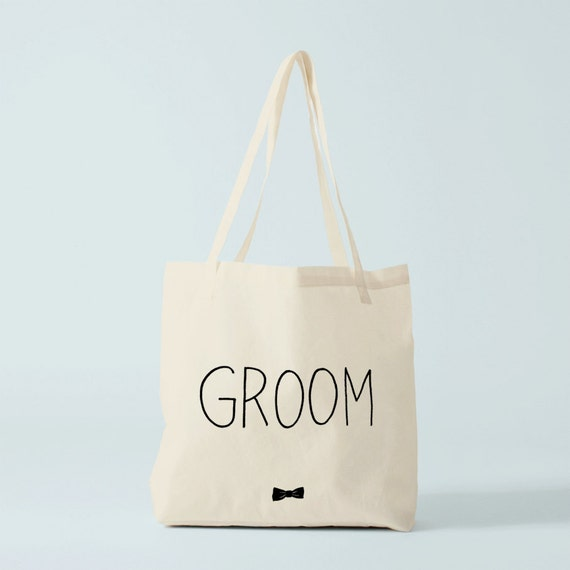 Tote Bag Groom Bow Tie, wedding tote bag, groom's tote bag, groom gift.