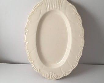 Classical Leedsware Creamware Gravy Bowl Plate