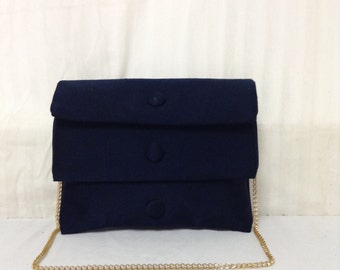 Vintage Purse,bag, Blue, Shoulder Bag